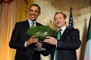 Enda Kenny and Barack Obama