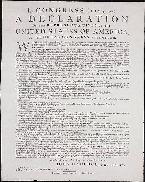 Dunlap Broadside 1776
