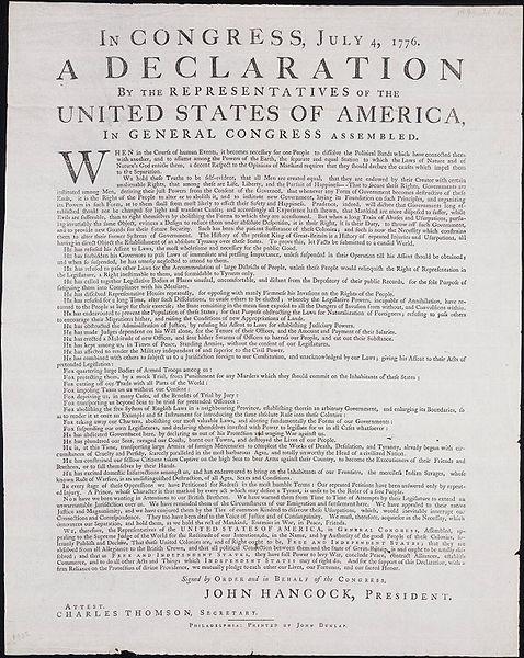 Dunlap Broadside 1776
