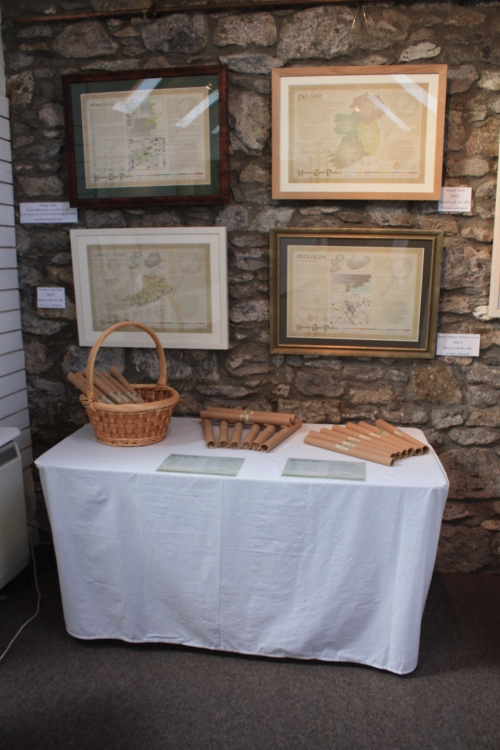 The Know Thy Place Stall with framed versions of our charts