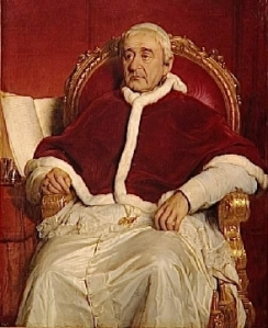 Pope Gregory XVI who sent St. Valentine to Ireland in the 19th Century