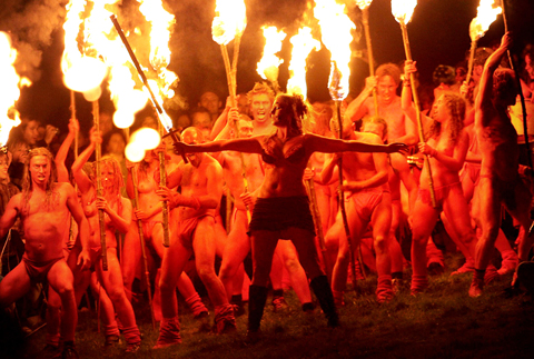 Dramatic scenes at the Beltane Fire Society's annual festival on Edinburgh's Calton Hill