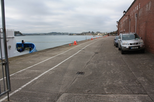 The Deepwater Quay beside the former train station in Cobh, where the tenders 'Ireland' and 'America' put in for their final stop before travelling out to the Titanic, anchored off Roches Point.