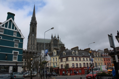 St. Colman's Cathedral, Cobh. This would have been visible to passengers as they pulled out towards the Titanic on the tenders 'America' and 'Ireland', although the tower had not been completed in 1912.